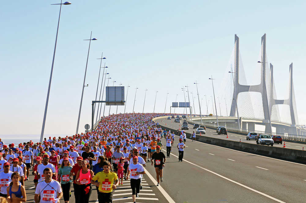Departure of the Marathon  of Lisbon